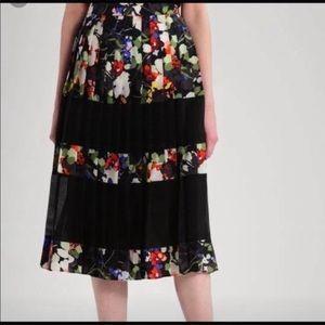 NWT Banana Republic pleated floral midi skirt ✨